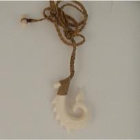 Kahoa Bone Hook Whale Tail - Leonati Motuliki Master Carver
