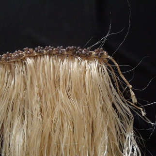 Fau Grass Skirt decorated with shell band