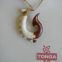 Kahoa Bone & Wood Hook - Leonati Motuliki Master Carver