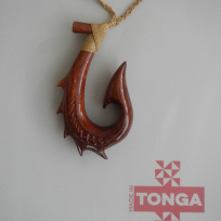 Kahoa Wooden Hook - Carving
