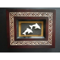 Framed Dolphins - Carving