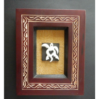 Framed Turtle - Carving