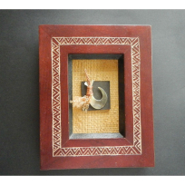 Framed Lure Hook with Shell - Art, Books & Photography