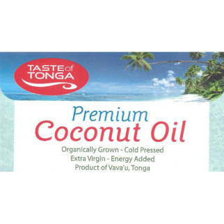 Taste of Tonga Premium Coconut Oil 400g