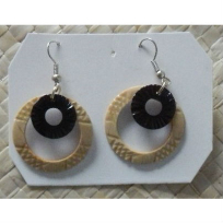 Coconut Earrings - Handicrafts