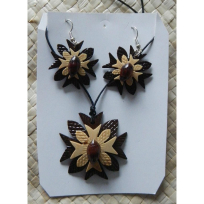 Coconut Necklace & Earrings - Handicrafts