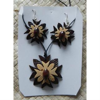 Coconut Necklace & Earrings