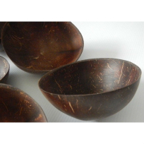 Coconut Shell Cup - Carving