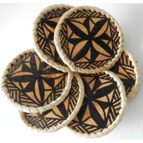 Ngatu Coaster Set (6) - Weaving
